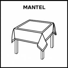MANTEL - Pictograma (blanco y negro)