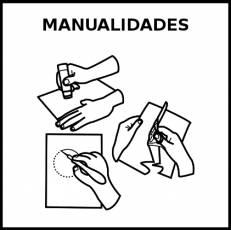 MANUALIDADES - Pictograma (blanco y negro)