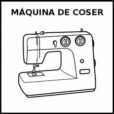 MÁQUINA DE COSER - Pictograma (blanco y negro)