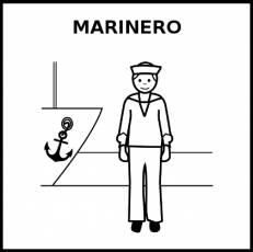 MARINERO - Pictograma (blanco y negro)