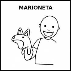 MARIONETA - Pictograma (blanco y negro)