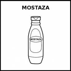 MOSTAZA - Pictograma (blanco y negro)