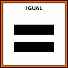 IGUAL (SIGNO) - Pictograma (color)