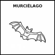 MURCIÉLAGO - Pictograma (blanco y negro)