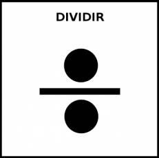 DIVIDIR - Pictograma (blanco y negro)