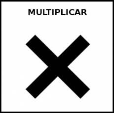 MULTIPLICAR - Pictograma (blanco y negro)