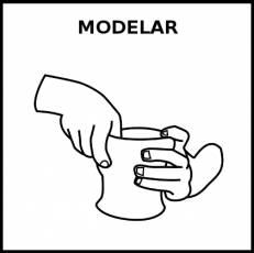 MODELAR - Pictograma (blanco y negro)