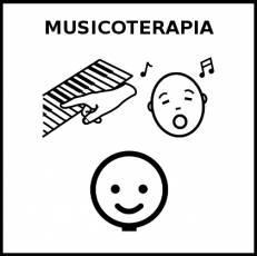 MUSICOTERAPIA - Pictograma (blanco y negro)