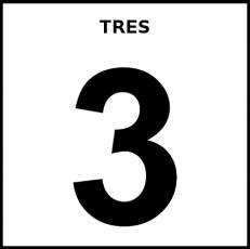 NÚMERO 3 (CIFRA) - Pictograma (blanco y negro)