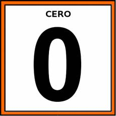 NÚMERO 0 (CIFRA) - Pictograma (color)