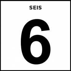 NÚMERO 6 (CIFRA) - Pictograma (blanco y negro)
