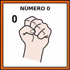 NÚMERO 0 (DEDOS) - Pictograma (color)