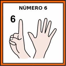 NÚMERO 6 (DEDOS) - Pictograma (color)