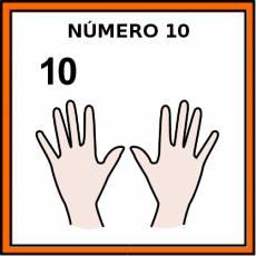 NÚMERO 10 (DEDOS) - Pictograma (color)