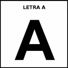 LETRA A (MAYÚSCULA) - Pictograma (blanco y negro)