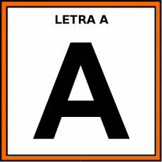 LETRA A (MAYÚSCULA) - Pictograma (color)