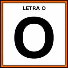 LETRA O (MAYÚSCULA) - Pictograma (color)