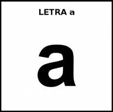 LETRA a (MINÚSCULA) - Pictograma (blanco y negro)