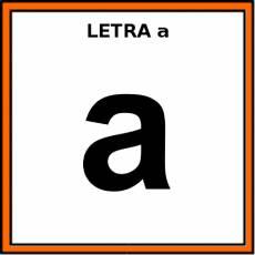 LETRA a (MINÚSCULA) - Pictograma (color)