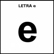 LETRA e (MINÚSCULA) - Pictograma (blanco y negro)