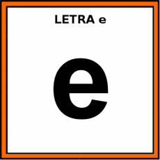 LETRA e (MINÚSCULA) - Pictograma (color)