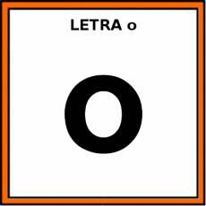 LETRA o (MINÚSCULA) - Pictograma (color)