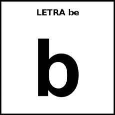 LETRA be (MINÚSCULA) - Pictograma (blanco y negro)