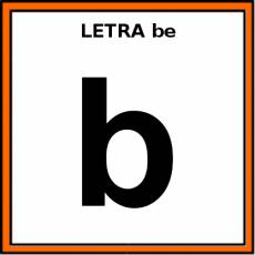 LETRA be (MINÚSCULA) - Pictograma (color)
