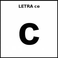 LETRA ce (MINÚSCULA) - Pictograma (blanco y negro)