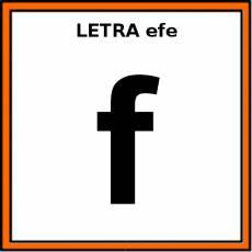 LETRA efe (MINÚSCULA) - Pictograma (color)