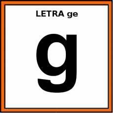 LETRA ge (MINÚSCULA) - Pictograma (color)