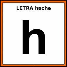 LETRA hache (MINÚSCULA) - Pictograma (color)