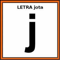 LETRA jota (MINÚSCULA) - Pictograma (color)