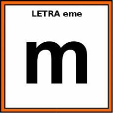 LETRA eme (MINÚSCULA) - Pictograma (color)