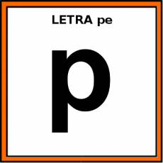 LETRA pe (MINÚSCULA) - Pictograma (color)