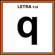 LETRA cu (MINÚSCULA) - Pictograma (color)