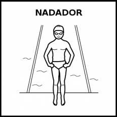 NADADOR - Pictograma (blanco y negro)