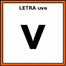 LETRA uve (MINÚSCULA) - Pictograma (color)