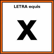 LETRA equis (MINÚSCULA) - Pictograma (color)