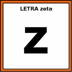 LETRA zeta (MINÚSCULA) - Pictograma (color)