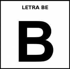 LETRA BE (MAYÚSCULA) - Pictograma (blanco y negro)