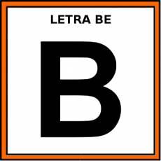 LETRA BE (MAYÚSCULA) - Pictograma (color)