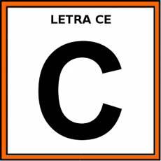 LETRA CE (MAYÚSCULA) - Pictograma (color)