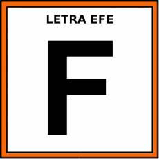LETRA EFE (MAYÚSCULA) - Pictograma (color)