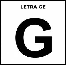 LETRA GE (MAYÚSCULA) - Pictograma (blanco y negro)