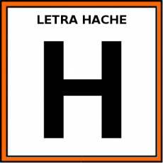 LETRA HACHE (MAYÚSCULA) - Pictograma (color)
