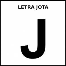 LETRA JOTA (MAYÚSCULA) - Pictograma (blanco y negro)