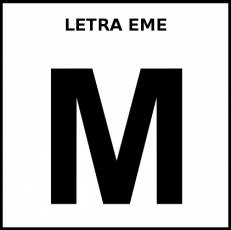 LETRA EME (MAYÚSCULA) - Pictograma (blanco y negro)