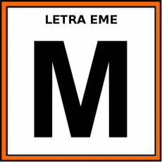 LETRA EME (MAYÚSCULA) - Pictograma (color)