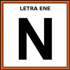 LETRA ENE (MAYÚSCULA) - Pictograma (color)
